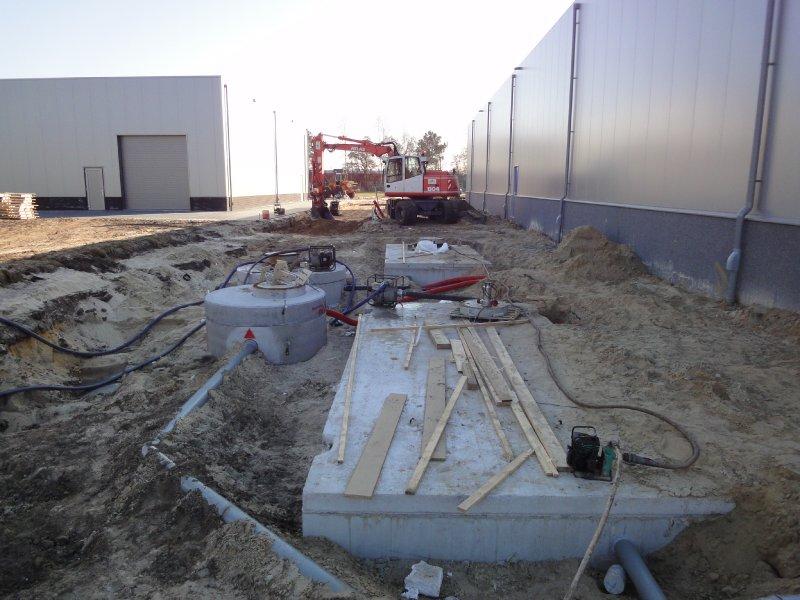 Wateropslag t.b.v. de recycle installatie