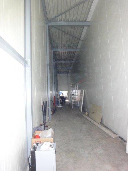 Technische ruimte 30 meter lang.